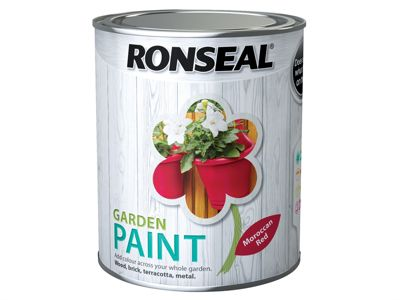 Ronseal Garden Paint Moroccan Red 750ml