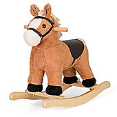 ToyStar Fluffy Rocking Horse - Light Brown