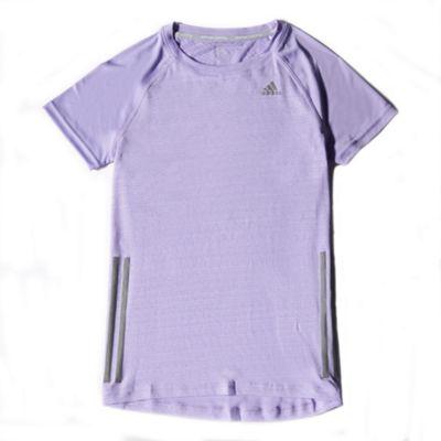 adidas Supernova Womens Ladies Running Shirt Tee Purple - UK 4-6