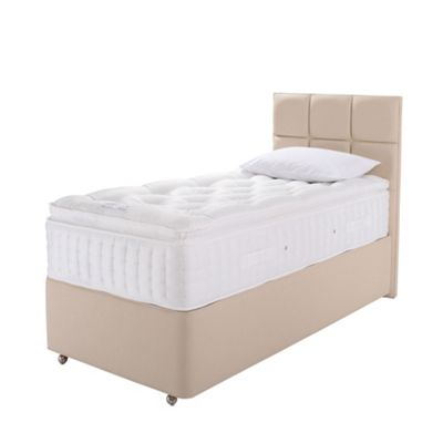 Relyon Natural Cashmere Padded Top Non Storage Single Divan Bed