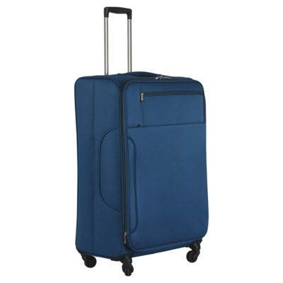 Buy Tesco Monaco 4 Wheel Teal Large Suitcase from our Lightweight ...