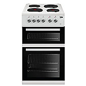 Beko Double Oven Electric Cooker, KD532AW - White