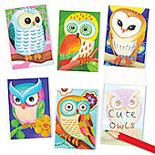 Owl Scented Mini Notebooks for Children - Fun Toy Party Bag Filler for Kids (Pack of 12)