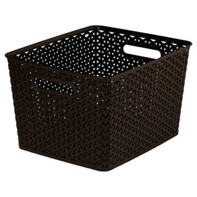 Curver My Style Brown 18L Storage Basket. Decorative Storage   Storage Solutions   Tesco
