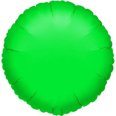 Green Round Balloon - 18 inch Foil