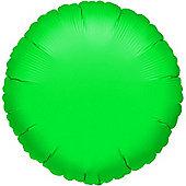 Green Round Balloon - 18 inch Foil