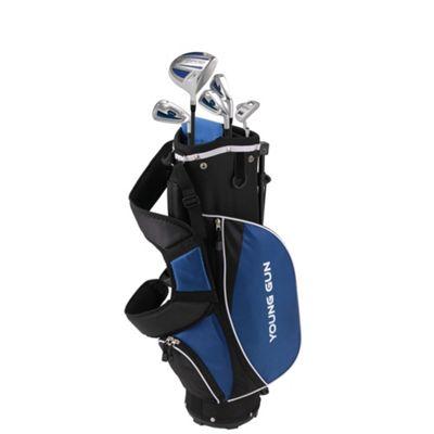 Young Gun Zaap Ace Junior Kid Right Hand Golf Set + Bags Age 6-8 Blue