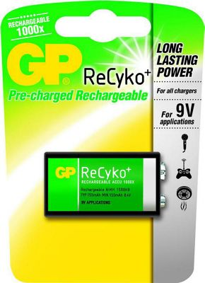 GP Rechargeable 9V Batteries