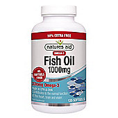 Natures Aid Omega 3 Fish Oil 1000mg - 135 Capsules