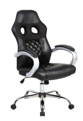 Black Hatched Racing Office Chair