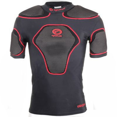 Optimum Rugby Origin Protective Rugby Top IRB Approved Black / Red LB