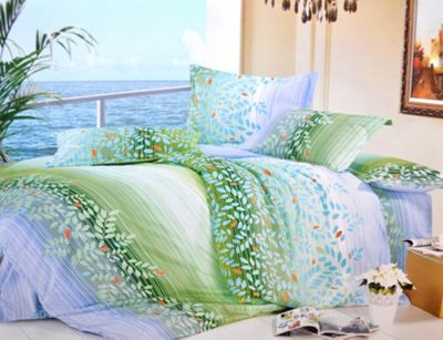 Green Leaves Half Set Bedding Double Duvet Cover