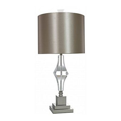 Sandringham Cut Glass Table Lamp With Champagne Shade