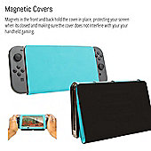 Orzly Screen Cover Stand for Nintendo Switch - Multifunctional BLUE Tablet Case