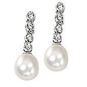 Serenity Pearl Drop Sterling Silver Earrings