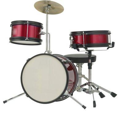 Rocket 3 Piece Junior Drum Kit - Red