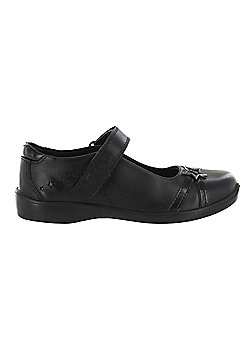 Girls Buckle My Shoe Kids Real Leather Back to School Shoes Various UK Sizes - Black