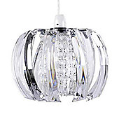 Acurva Ceiling Light Pendant Shade, Clear Acrylic