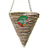 Kingfisher 30cm Rope Cone Hanging Basket