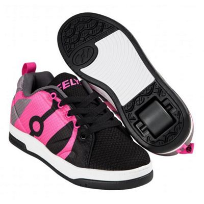 Heelys Repel Black/Charcoal/Hot Pink Kids Heely Shoe JNR 12