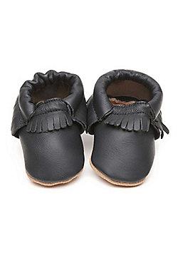Olea London Moccasins Baby Shoes Blue - Blue