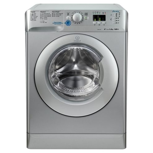 Indesit Innex XWA81682XS Washing Machine , 8Kg Load, 1600 RPM Spin, Silver