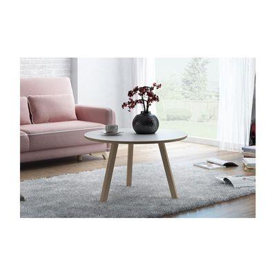 Oslo Circular Coffee Table - White