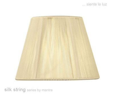 30cm Silk String Shade Ivory Cream
