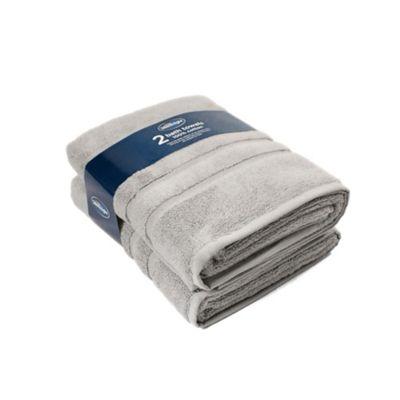 Silentnight 100% Cotton 525gsm 2 Piece Bath Towel Set - Grey