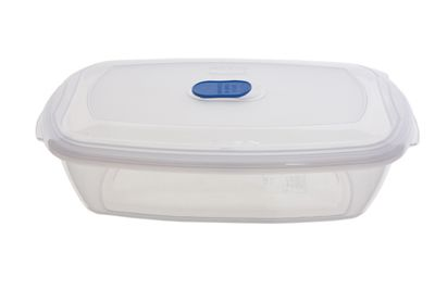 Whitefurze Rectangular 2.33L Freezer to Microwave Storer