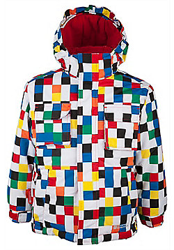 Pluto Kids Snowproof Insulated Fleece Lined Hooded Skiing Ski Jacket - White