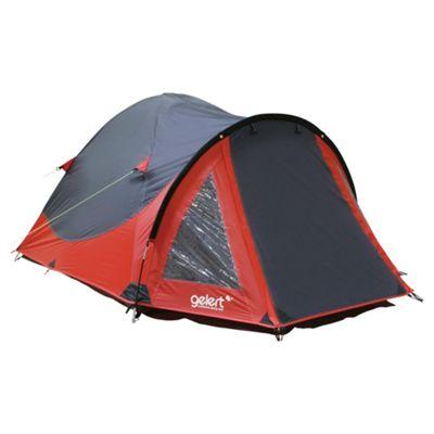 Gelert Rocky 2-Man Dome Tent, Red