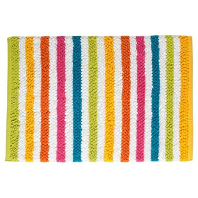 Tesco Bright Stripe Bath Mat