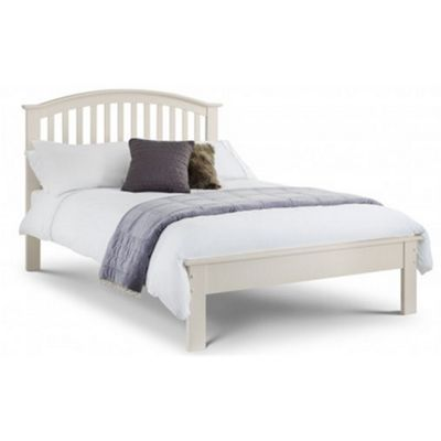 Stone White Curved Shaker Style Wooden Bed Frame Double Low Foot End 4ft 6 135cm Catalogue Number 338 2881