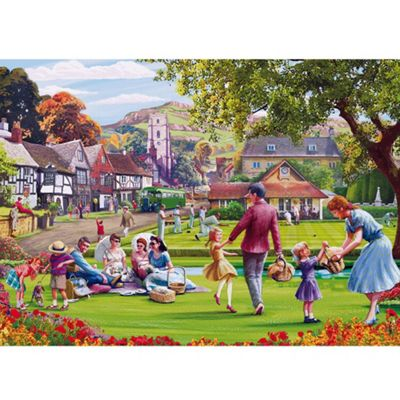 Picnic on the Green - 1000pc Puzzle