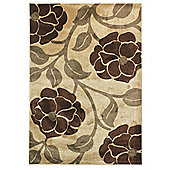 Hand Carved Vine Beige/Brown Rug 120X170cm