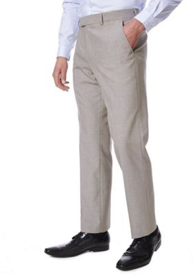 F&F Regular Fit Suit Trousers Taupe 36 Waist 35 Leg
