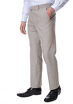 F&F Regular Fit Suit Trousers - Taupe