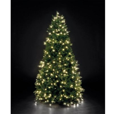 7ft 6in Louise Fir Pre-Lit PE Christmas Tree with 500 Warm White LEDs - Buy 7ft 6in Louise Fir Pre-Lit PE Christmas Tree With 500 Warm White