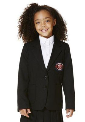 Girls Embroidered Blazer 5-6 years Black