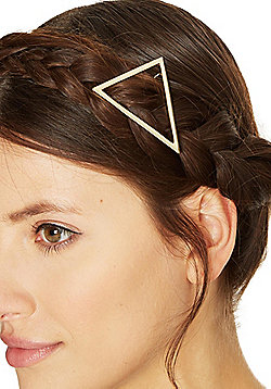 Pieces Metal Triangle Hairclip - Gold