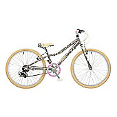 "De Novo Dotti Girls ATB 24"" Wheel Alloy 6 Speed Girls Silver Bike"
