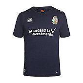 Canterbury British & Irish Lions Vapodri + 'Superlight' Poly Small Logo Tee 16/17 - Peacoat - Navy