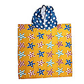 Kids Hooded Beach Bath 'Stars' Poncho Pal