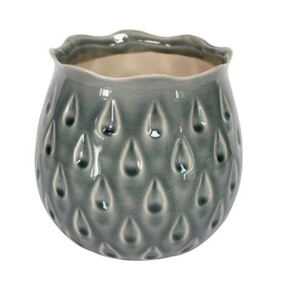 Grey Teardrop Pot - Large