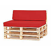 Water Resistant Pallet Small Back Cushion - Red