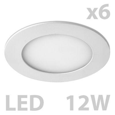 Pack of 6 MiniSun Cobra Round 12W LED Downlights, Warm White