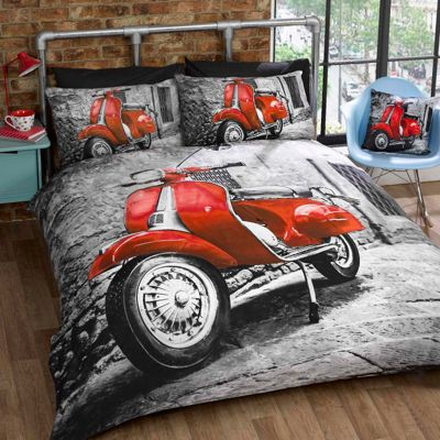 Rapport Red Scooter Duvet Cover Set - Single