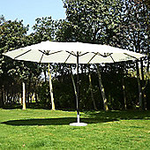 Outsunny 4.6M Double Umbrella Large Garden Parasol