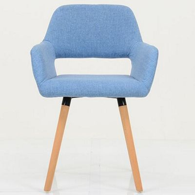 Stockholm Blue Fabric Dining Chair